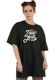 Blusa Skull Clothing New York Preta