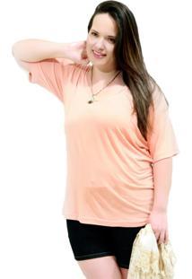 Camiseta Básica Daily Plus Size Laranja