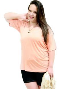 Camiseta Vickttoria Vick Bã¡Sica Daily Plus Size - Laranja - Feminino - Dafiti