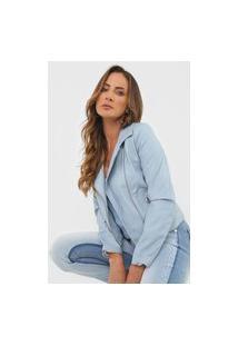 Jaqueta Lança Perfume Resinada Azul