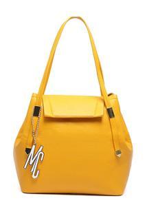 Bolsa Macadamia Tote Bag Alças Duplas Nude - Feminino-Amarelo