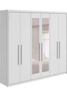 Guarda-Roupa Casal Com Espelho Aries 6 Pt 6 Gv Branco
