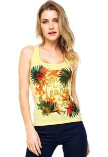 Regata Lunender Floral Amarela