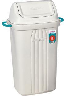 Lixeira De Plástico Com Tampa Basculante Sanremo Bege 30L