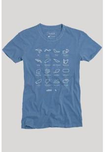 Camiseta Circuitos Reserva Masculina - Masculino-Azul