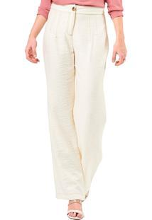 Calça Mx Fashion Viscose Karine Off White