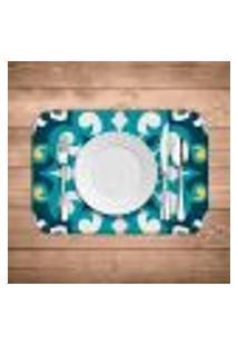 Jogo Americano Wevans Mandala Blue Kit Com 6 Pçs