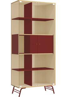 Cristaleira 2 Portas De Vidro - Po601 Pop - Kappesberg Pine/Marsala