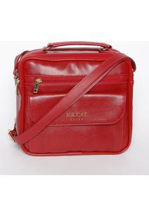 Bolsa Com Bolsos- Vermelha- 22X23X10Cmmr. Cat