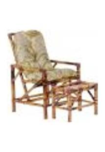 Conjunto Mesa E Cadeira De Bambu Cancun Para Área Edicula Jardim G05