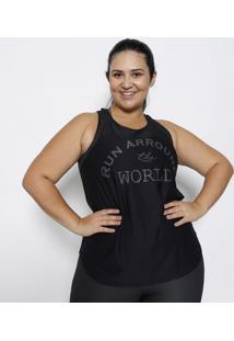 Regata Com Tela - Preta & Cinza Escuro- Physical Fitphysical Fitness