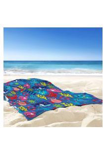 Toalha De Praia / Banho Fundo Do Mar Único