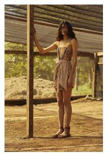 Vestido Aya Canvas Sand/Canela - Cabana Canela