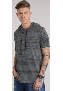 Camiseta Com Capuz Preta