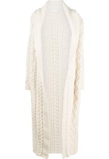 Ami Amalia Highlander Organic Wool Coat - Branco