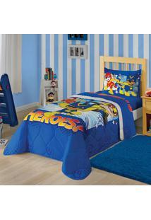 Edredom Estampado Patrulha Canina Menino 1,50X2,00 - Lepper - Azul