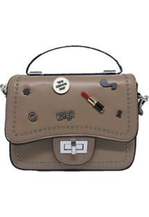 Mini Bolsa Sys Fashion Casual Importada 8301 Caqui