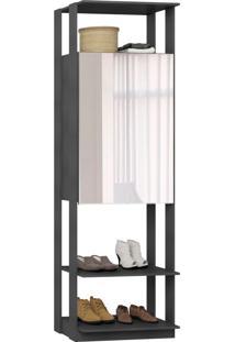 Closet 2 Portas Espelhadas 1007 Espresso - Bentec