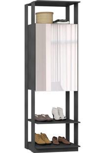 Guarda-Roupa Closet 2 Portas Com Espelho 70 Cm Espresso - Bentec