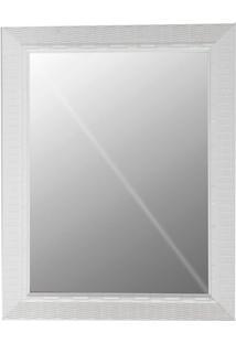 Espelho Decora Rattan 49X39Cm Branco