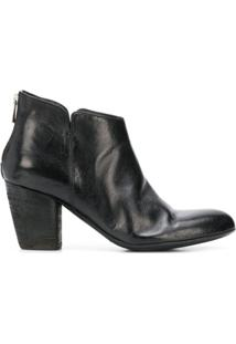 Officine Creative Ankle Boot Com Salto Alto - Preto