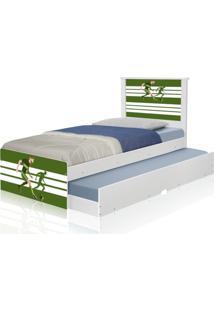 Bicama Juvenil Adesivada Futebol Jogador Casah - Verde - Menino - Dafiti