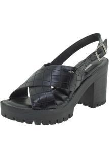 1f37af18d9 Clóvis Calçados. Sandália Com Salto Alto Dakota Preta Conforto Z3541 -  Feminina ...