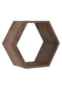 Nicho Hexagonal 400X346X180 Mm Rustico Movelbento Marrom