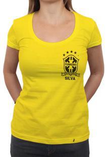 Silva (Brasão Preto) - Camiseta Clássica Feminina