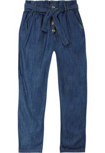 Calça Azul Escuro Jogger Jeans Feminino