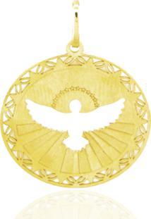 Pingente Medalha Espírito Santo Ouro 18K Vj6018