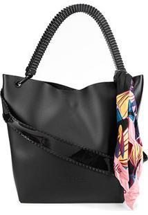 Bolsa Petite Jolie Shopper City Bag Feminina - Feminino-Preto