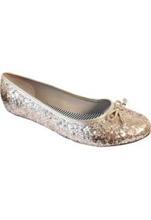 Sapatilha Moleca Glitter Dourado 5291.318