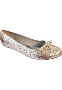 Sapatilha Moleca Glitter Dourado 5291.318 - Dourado - Feminino - Dafiti