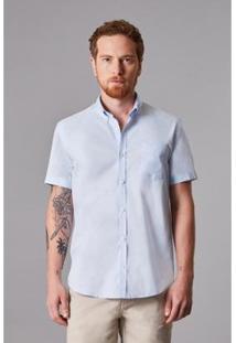Camisa Reserva Oxford Masculino - Masculino-Azul Claro