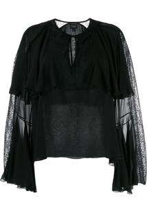 Giambattista Valli Billow Sleeve Blouse - Preto