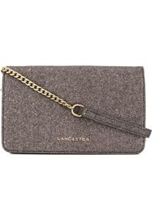Lancaster Actual Shiny Glitter Clutch - Metálico