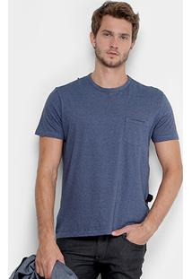 Camiseta Ellus Gola Mesclada Bolso Masculina - Masculino