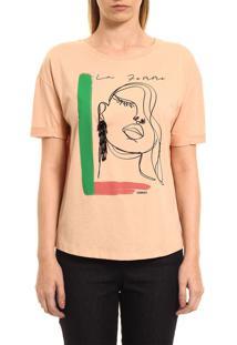 Camiseta Sommer Estampada Bege - Kanui