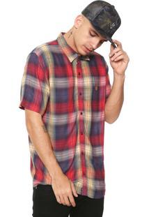 Camisa ...Lost Reta Xadrez Amarela/Vermelha