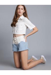 Shorts Jeans Miami Tingimento Azul Momento - Lez A Lez