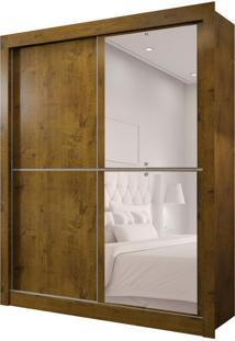 Guarda-Roupa Solteiro Com Espelho Milan New I 2 Pt 2 Gv Canela