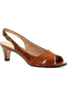 404247330 R$ 159,90. Zattini Peep Toe Couro Shoestock Salto ...