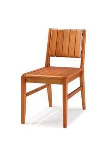 Cadeira Salvador Verniz Jatoba Encosto Ripado 43Cm - 40725 Preto