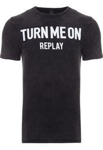 Camiseta Masculina Turn Me On - Preto