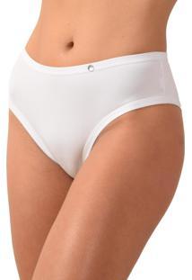 Calcinha Tangão Vip Lingerie Confort Microfibra Branco