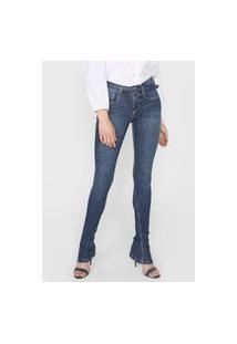 Calça Jeans Lança Perfume Bootcut Estonada Azul