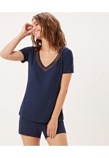 Pijama Joge Curto Azul Marinho
