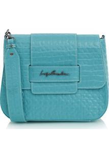 Bolsa Pequena Croco Azul