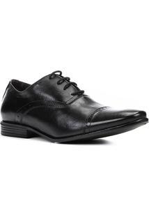 Sapato Social Couro Shoestock Brogues Masculino - Masculino-Preto